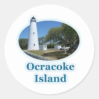 Ocracoke Island, North Carolina Round Stickers
