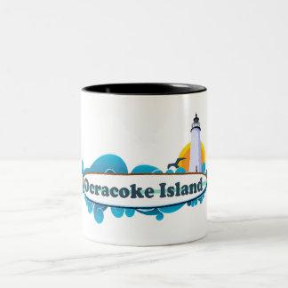 Ocracoke Island. Two-Tone Coffee Mug