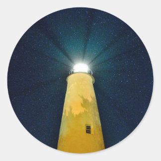 Ocracoke Light. Classic Round Sticker