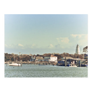 Ocracoke Light. Postcard