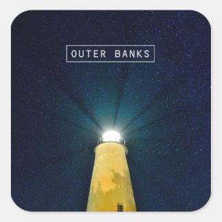Ocracoke Light. Square Sticker