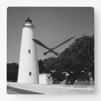 Ocracoke Lighthouse Square Wall Clock
