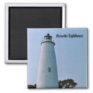 Ocracoke Lighthouse 2 Inch Square Magnet