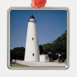 Ocracoke Lighthouse Metal Ornament
