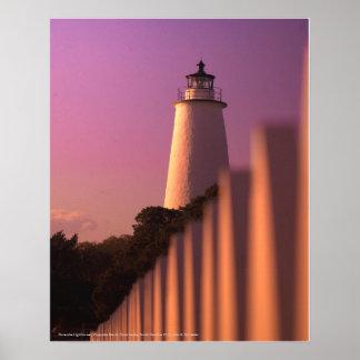Ocracoke Lighthouse - Ocracoke Island Poster