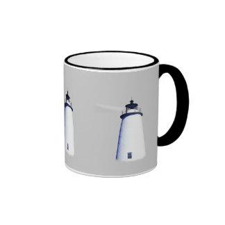 Ocracoke Lighthouse Ringer Coffee Mug