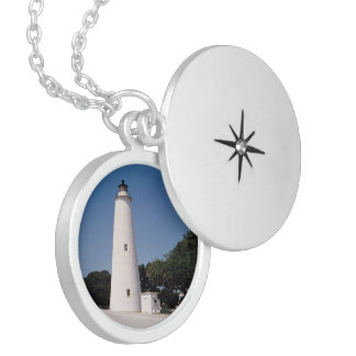 Ocracoke Lighthouse Sterling Silver Necklace