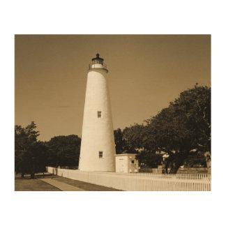 Ocracoke Lighthouse Wood Wall Decor