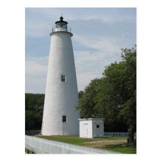 Ocracoke, postal del faro de Carolina del Norte