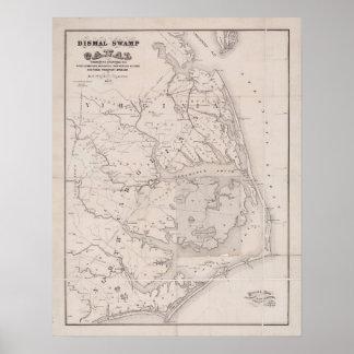 Ocracoke Virginia 1867 Antique Map Poster