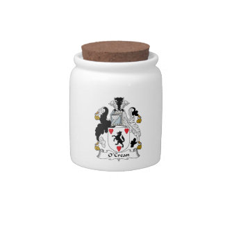 O'Crean Family Crest Candy Jars