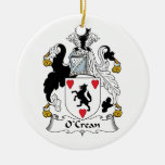 O'Crean Family Crest Christmas Ornaments