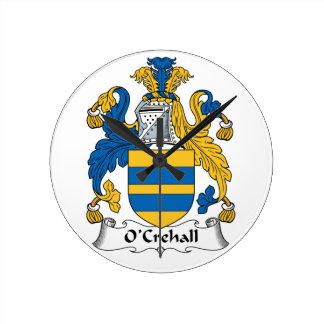 O'Crehall Family Crest Wallclocks