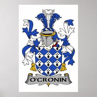 O'Cronin Family Crest Poster