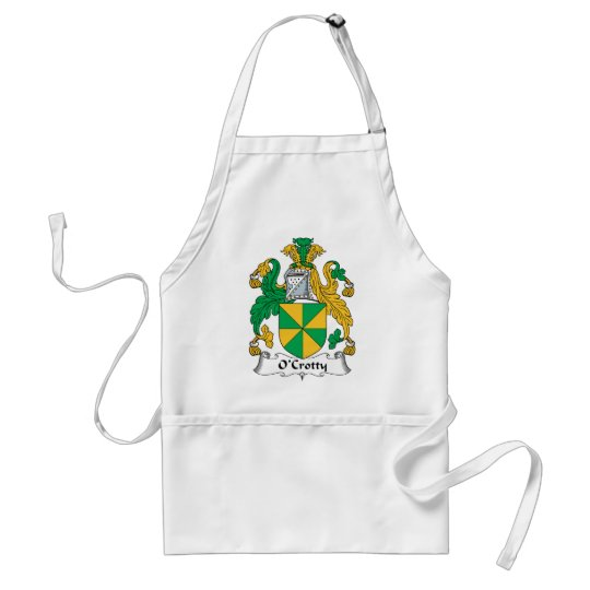 O'Crotty Family Crest Adult Apron