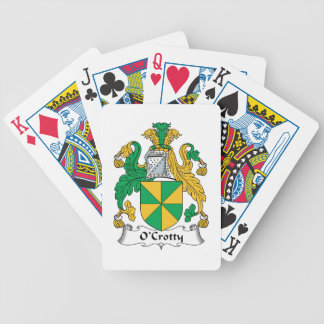 O'Crotty Family Crest Poker Cards