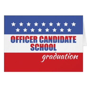 OCS, Officer Candidate School Graduation Congrats Card
