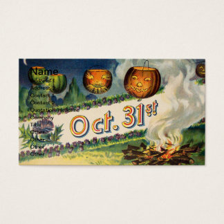 Oct 31st (Vintage Halloween Card) Business Card