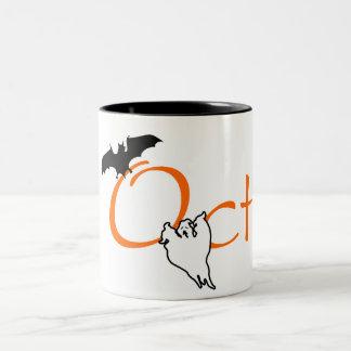 Oct (Halloween) Two-Tone Coffee Mug