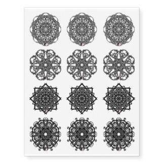 Octa Glyphs set 4 Temporary Tattoos