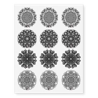 Octa Glyphs set 7 Temporary Tattoos