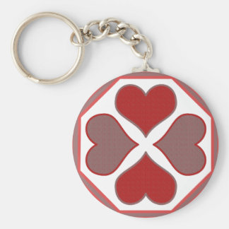 Octagon Hearts Keychain