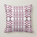 Octagon Pillow in Plum and Brown with Squares