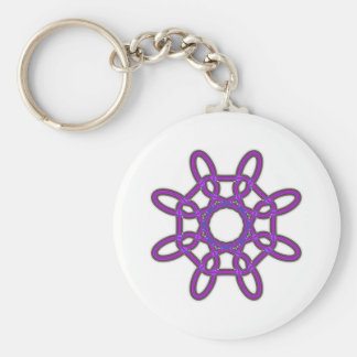 Octagon Shape Celtic knot Keychain