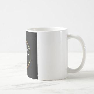 Octagon shaped wall clock graphic coffee mug