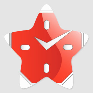 Octagon shaped wall clock graphic star sticker