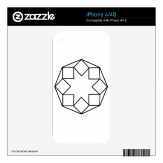 Octagon Square Decals For iPhone 4S
