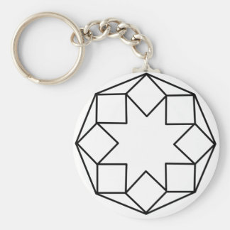 Octagon Square Keychain