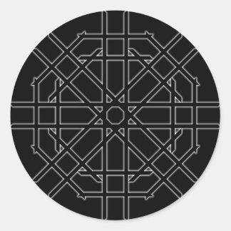 Octagon Star Sticker