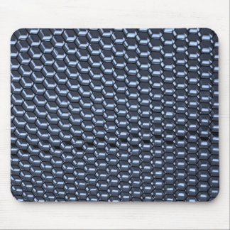 Octagonal Abstract in Blue Mouse Pad