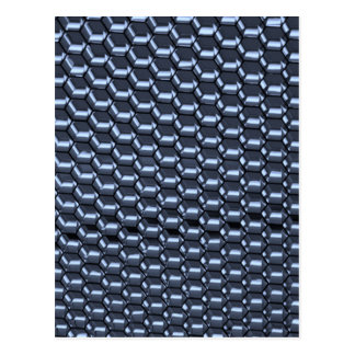 Octagonal Abstract in Blue Postcard