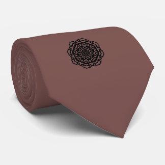 Octagonal Black Mens Tie