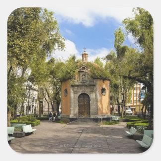 Octagonal Chapel Square Sticker