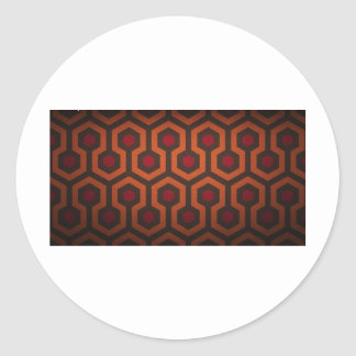 octagonal design round sticker