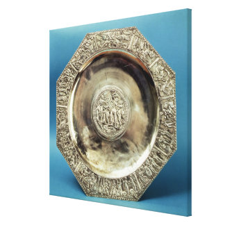 Octagonal Dish from Kaiseraugst, Roman Canvas Print