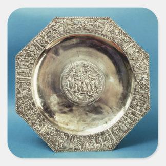 Octagonal Dish from Kaiseraugst, Roman Square Sticker