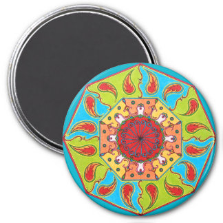 Octagonal RGB Mandala Fridge Magnet