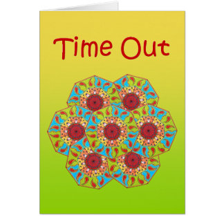 "Octagonal RGB Mandala ""Time Out"" Greeting Card"