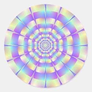 Octagonal Tunnel Round Sticker
