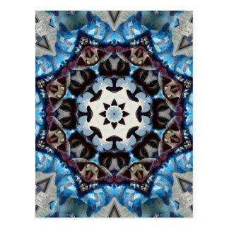 Octágono azul de lujo K186 Postales