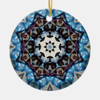 Octágono azul adorno para reyes