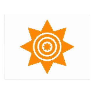 Octágono estrella anillo octagon star de circles tarjeta postal