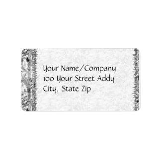 Octagram en blanco y negro etiquetas de dirección