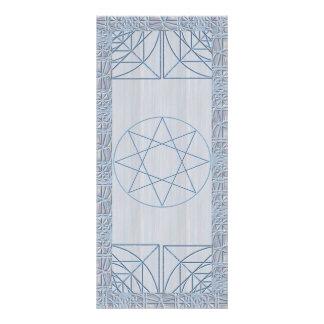 Octagram in Blue Customized Rack Card