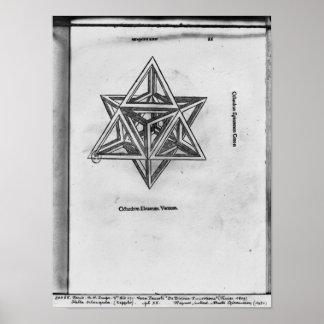 Octangula de Stella, de 'De Divina Proportione' Póster