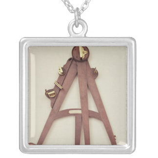 Octant, 1750 silver plated necklace